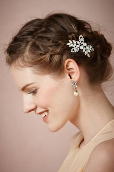 Primrose Hairpin from BHLDN, $140.  Win a $1000 gift certificate for BHLDN.  Winner drawn March 29, 2013.  http://www.refinery29.com/sweeps/loverly-bhldn-giveaway/terms