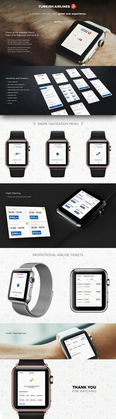 Turkish Airlines - iWatch Concept on Behance