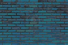 painted brick wall. i like the slight color variations.