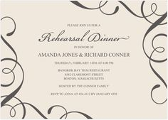 Everyday Charm Rehearsal Dinner Invitations by Invitation