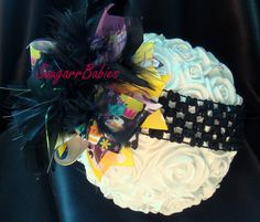 Cupcake Over the top bow Boutique Hairbow Baby by SuugarrBabies, $12.00