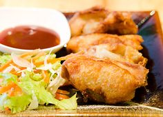 Viking River cruises recipe for Shrimp and Crab Wontons - This Cantonese-style appetizer is easy and quick to prepare; serve with your favorite dipping sauce.