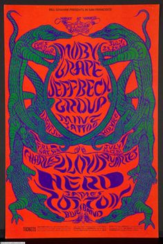 Fillmore West | Prunings from the Vines .... Moby Grape .... Jeff Beck Group ... James Cotton Blues Band ......  artist .... LEE CONKLIN