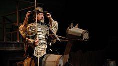 José Sacristán, como don Quijote de la Mancha en Yo soy don Quijote de la Mancha, espectáculo de José Ramón Fernández (2012)