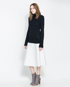 ZARA - WOMAN - SWEATER WITH SIDE BUTTONS