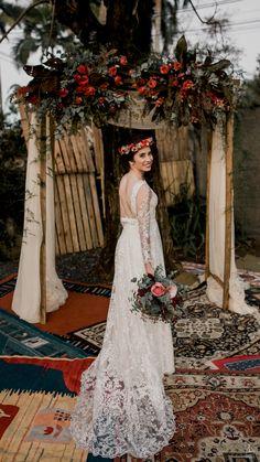 Casamento de dia, ao ar livre, Santa Catarina, noivas, decoração, vestido de noiva, Blumenau, Sweet Sail, decoração, arco de flores, arco de flores noivas, boho hair, bride, vestido de noiva, casamento boho, first look, sweet sail