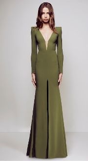 Alex Perry Long Sleeve Francoise Gown D1071