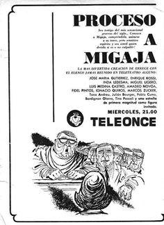 Publicidad de programación. CANAL 11, Buenos Aires, década del 70.