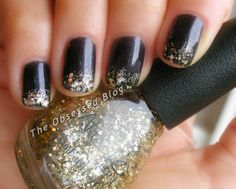 Aphrodite Lacquers Never Too Old with NOPI Kissed at Midnight on the tips, from The Obsessed.