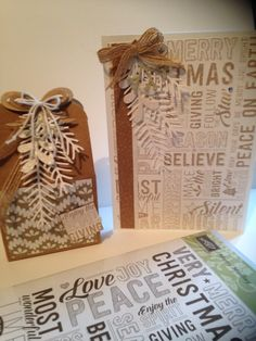 #Merry Medley Card and Gift Box made by Helga Brown from Cardblanche , to visit my Blog just click on my link here ://Cardblanche.blogspot.com , Stampin'Up only