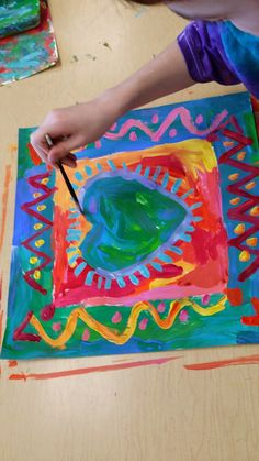 Third Grade Peter Max Hearts