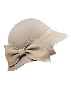 1920s Bow Wool Bell Cloche Bucket Hat $24.00 AT vintagedancer.com