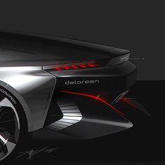 DeLorean - DMC15 #deadbrush #cardesign #delorean #render #sketch