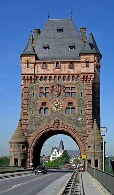 Stunning Tower of the Nibelungen Bridge in Worms, Germany Browse Germany itineraries, travel tips only on www.Triphobo.com