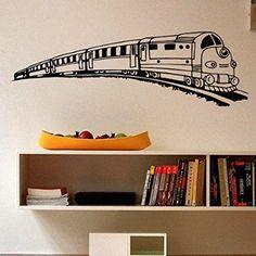 Amazon.com - Wall Decals Vinyl Sticker Train Locomotive Baby Girl Boy Interior Art Murals Nursery Kids Home Decor Bedroom Children's Living Room Design M128 -