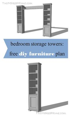 FREE plans and tutorial! Learn how to build your own bedroom storage towers!: