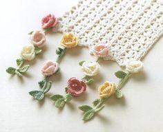 Watch The Video Splendid Crochet a Puff Flower Ideas. Wonderful Crochet a Puff Flower Ideas. Crochet Flower Scarf, Crochet Flower Patterns, Crochet Scarves, Crochet Clothes, Crochet Flowers, Crochet Lace, Crochet Stitches, Free Crochet, Crocheted Scarf