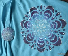 Tyrkysové triko s mandalami
