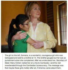 Hillary Clinton, feminist & an advocate for women and children