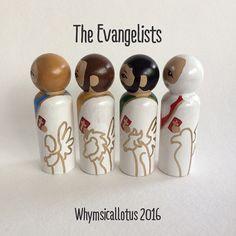 The Evangelists MatthewMark Luke and John Wooden by WhymsicalLotus