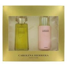 Carolina Herrera 3.4oz Eau De Parfum 2pc Set for Woman by Carolina Herrera. $79.95. 3.4oz Eau de Parfum. 6.7oz Body Lotion. Carolina Herrera Perfume by Carolina Herrera, An exuberant, richly floral, elaborately layered scent. The essence of a woman who is tailored by day, brilliant by night. Evokes the freshness of a moment, the intrigue of a night under the stars; envelops with memorable intensity. When fantasy becomes reality. The fragrance is a sensual blend of jasmin...