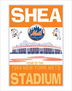 New York Mets - Shea Stadium 1964 print