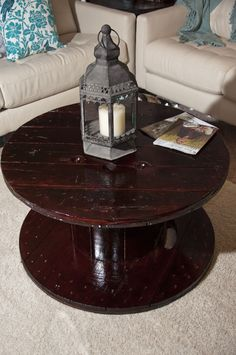 More on the wooden spool coffee table