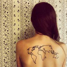 world-tattoo back