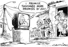 Zuma promises more jobs in his 2010 State of the Nation address. | www.zapiro.com