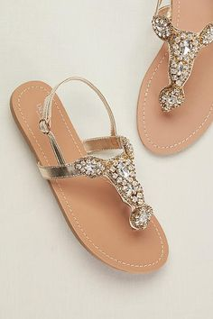 Crystal Sling Back W