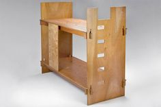ply­wood bunk beds designed in the 1960s by Angelo Manglarotti