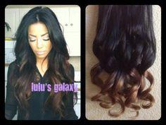 CHOCOLATE LATTE brunette black base ombre / hair by LulusGalaxy