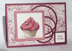 Stampin Up, #thecraftythinker, Sweet Cupcake, Circles & squares