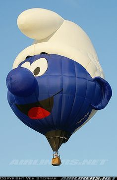 Smurftastic! This is the best hot air balloon EVER! :)