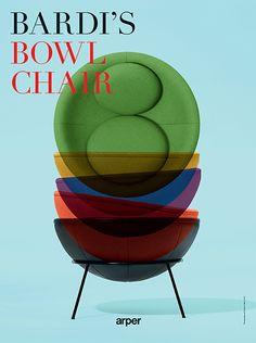 Arper Lina Bo Bardi Bowl chair