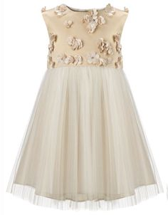 Baby Lizette Dress | Gold | Monsoon