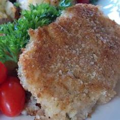 Parmesan Sage Pork Chops Recipe - December 7 2012- I made these tonight, and I've made them once before.  This is my go-to Pork Chip recipe!
