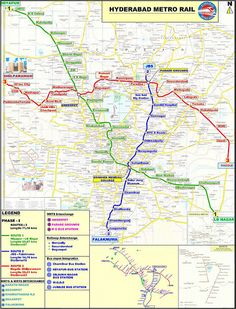 awesome Hyderabad Metro Map