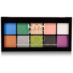 Nyx Professional Makeup Avant Pop Art Throb Eye Shadow Palette (€16) ❤ liked on Polyvore featuring beauty products, makeup, eye makeup, eyeshadow, beauty, cosmetics, art throb, nyx, nyx eye shadow and palette eyeshadow