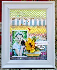Don't you just love this framed project by Agnieszka Piskorz!! #BoBunny,