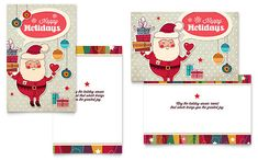 word greeting card template free