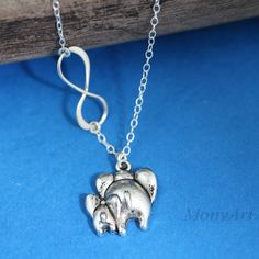 Elephant Necklace   Mother Daughter Always together  by MonyArt, $26.80  Perfect...mom and me ♥