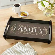 A Personal Creations Exclusive! Stir up precious family memories and serve new ones with this gracious tray.