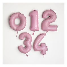 number pink foil balloon