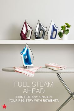 Don't forget to add laundry essentials to your wedding registry! Things like steamers, hampers and irons (like this one from Rowenta!) are all important when filling up a new home. Click over to macys.com now to create a registry or update your list. Bonus: You can pick your fave color!