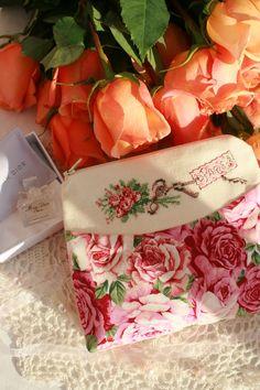 cross stitch Paris bag