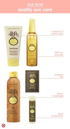 Here comes the Sun Bum! This quality sun care line will have you ready to soak up some rays with SPF for your skin, face, lips and even hair. Choose from lotion, spray or stick sunscreen and apply 20 minutes before going out. After a full day outside, generously apply Cool Down to help soothe and restore skin. Want a sun-kissed look without UV? Try sunless tanning towelettes. Bonus: It's all made without parabens, petroleum or retinyl palmitate.