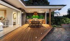 Outdoor Decking with Table
