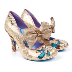 Buy Irregular Choice shoes, boots, handbags and jewellery online. View the biggest and best Irregular Choice collection here. Pretty Shoes, Beautiful Shoes, Cute Shoes, Me Too Shoes, Cinderella Shoes, Disney Shoes, Cinderella Wedding, Glitter Heels, Gold Heels
