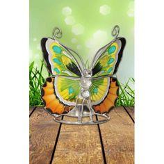 Vlinder Tiffany theelichthouder